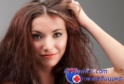 народные сухие волосы