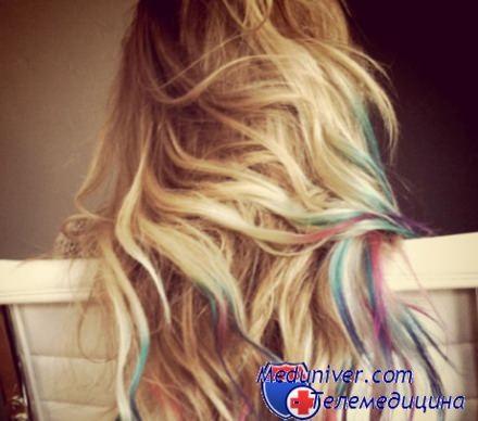 окрашивание волос из блондинки