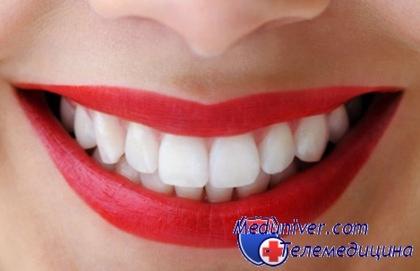 Яркие белые зубы