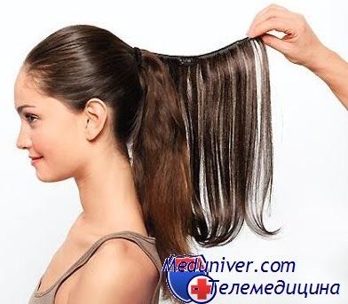 Волосы на заколках - трессы