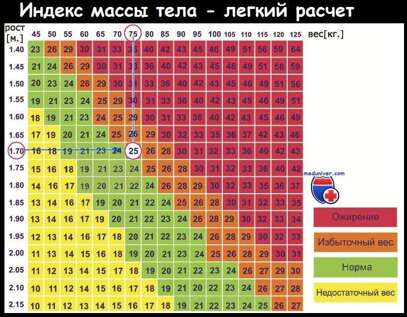 Индекс ожирения тела рассчитать