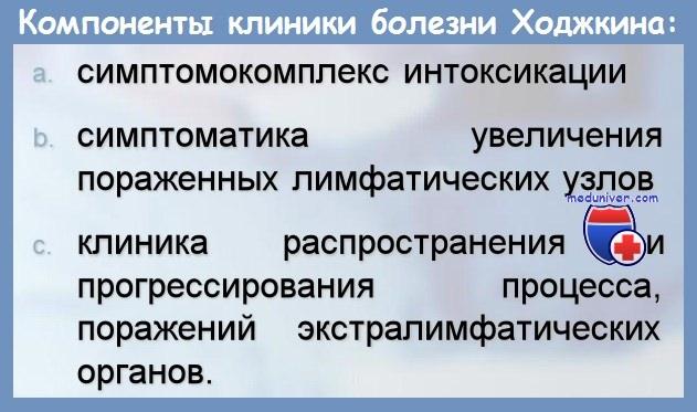 Клиника болезни Ходжкина