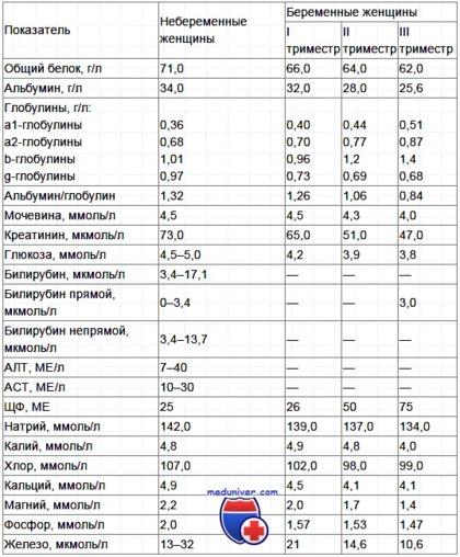 Нормы биохимического анализа крови для беременных медицинская литература магазин санкт-петербург