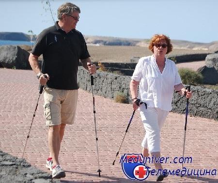 Прогулки со скандинавской ходьбой